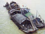 Cargo junks on the Yangtze river