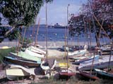 Sailboats and ship in harbor, Dar es Salaam, Tanzania