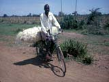 Man on bicycle in Tanzania
