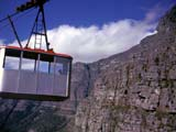 Aerial tramway on Table Mountain in Cape Town, South Africa