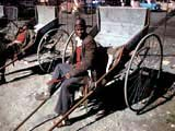 Man with rickshaw in South Africa