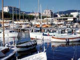 Yachts in harbor, Cannes, France
