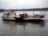 Ferry on the Mississippi river in Golden Eagle, Illinois