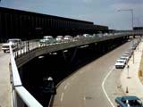 Double-decked road at O'Hare International Airport in Chicago, Illinois