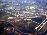 Aerial view of O'Hare International Airport in Chicago, Illinois
