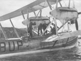 Seaplane at in harbor, Valletta, Malta