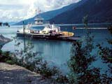 Galena Bay Ferry on Upper Arrow Lake in Shelter Bay, British Columbia, Canada