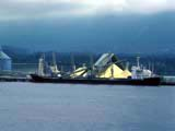 Barge in Burrard Inlet in North Vancouver, British Columbia
