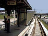 Chicago transit authority station near expressway in Chicago, Illinois