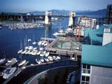 View of waterfront in Vancouver, Canada