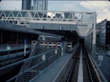 Subway portal and Sky Train in Vancouver, Canada