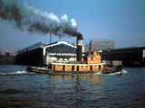 Tugboat in Hudson River, New York, New York