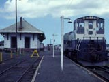 Passenger train at Greenport station, Greenport, New York