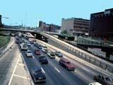 Traffic on expressway in Chicago, Illinois