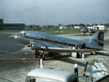 DC-3 airplane in airport, Chicago, Illinois