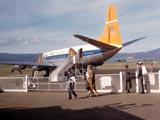 DC-6 airplane in airport, Seattle, Washington