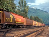 Grain train in Revelstoke, Canada