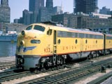 Union Pacific train in Chicago, Illinois