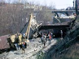 Train wreck in Kent, Ohio