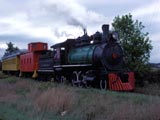 Freight train locomotive in Waukesha, Wisconsin