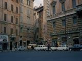Parked cars on street in Rome, Italy