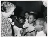 1969: Golda Meir with children in Milwaukee