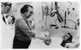 1973:Golda Meir and wounded Israeli soldiers, Yom Kippur War