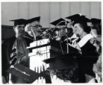 1973: Golda Meir receiving honorary degree from Yeshiva University
