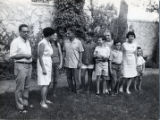 Golda Meir with family at Kibbutz Revivim