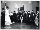 1919: Golda Meir as Liberty in Poale Chasidim pageant