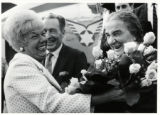 1969: Golda Meir with Mayor and Mrs. Sam Yorty at the Los Angeles airport
