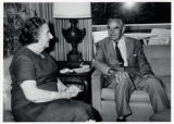 1969: Golda Meir with Averell Harriman in Washington D.C.