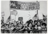 1969: Children greeting Golda Meir at the Philadelphia airport
