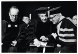 1973: Golda Meir after receiving honorary degree at Brandeis University