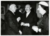 1959: Golda Meir with Russian Ambassador Bodrov at Diplomatic Corps reception