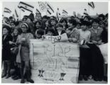 1969: Children greeting Golda Meir at the Milwaukee airport