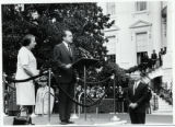 1969: Golda Meir being welcomed by President Nixon outside White House