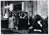 1972: Golda Meir at the Synagogue Chorale  in Bucharest