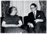 1973: Golda Meir with Secretary of Defense Elliott Richardson