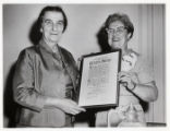 1969: Golda Meir being given tribute by Pioneer Women/NA'AMAT