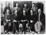 1932: Golda Meir in picture for farewell party of Elias Zavel in Milwaukee