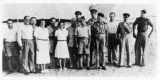 Golda Meir visiting Jewish Brigade unit during WWII