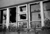 Warsaw bombing in September 1939, windows shattered during aerial bombing