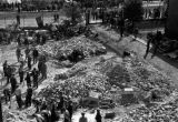 Warsaw bombing in September 1939, civilians cleaning debris after bombing