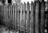 Bombing of Poland in September 1939, damage to fence from flying debris