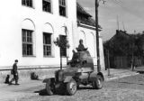 Polish armored vehicle during the September Campaign of 1939