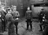 Group of Polish officers and soldiers with a German pilot taken as a prisoner of war