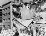 Warsaw bombing in September 1939, destroyed apartment building