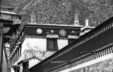 Detail of Labrang Monastery building in Xiahe