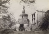 1900-1901 Lhasa, Bar Chorten, the Western Gate or Pargo Kaling gateway